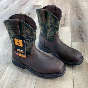Ariat Sierra Wide Square Toe Steel Toe Work Boot